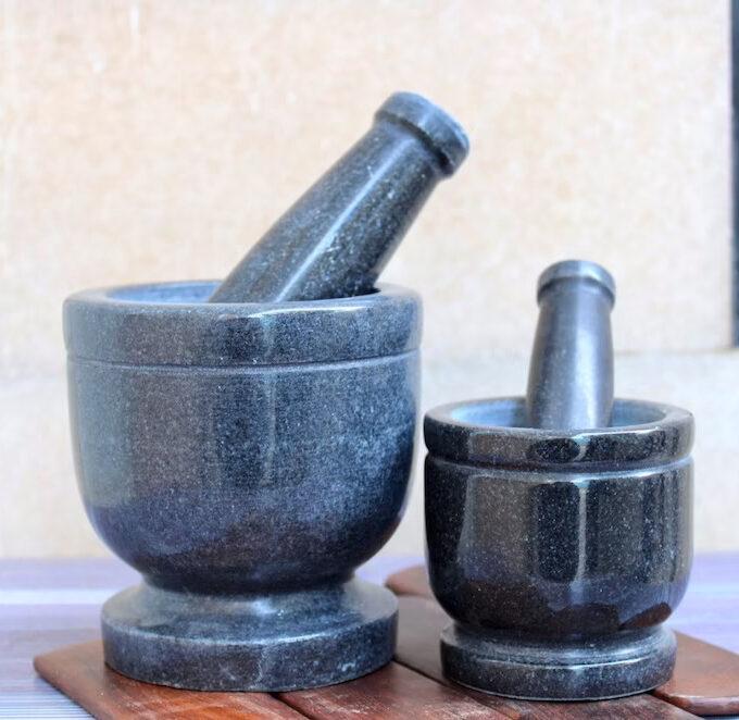 black-marble-mortar